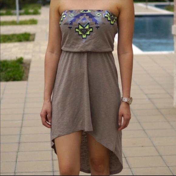 Express Dresses & Skirts - Aztec sequin lo hi dress